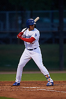 AZL Dodgers Mota Romer Cuadrado (12) at bat during an Arizona League game against the AZL Giants Orange on June 29, 2019 at Camelback Ranch in Glendale, Arizona. The AZL Giants Orange defeated the AZL Dodgers Mota 9-3. (Zachary Lucy/Four Seam Images)
