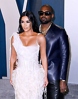 BEVERLY HILLS, CALIFORNIA - FEBRUARY 9: Kim Kardashian West and Kanye West attend the 2020 Vanity Fair Oscar Party at Wallis Annenberg Center for the Performing Arts on February 9, 2020 in Beverly Hills, California. Photo: CraSH/imageSPACE/MediaPunch