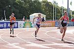 IPC European Athletics Championship 2014<br /> Marlou van Rhijn (NED), Amelie-Marie Le Fur (FRA) & Irmgard Bensusan (GER)<br /> Women's 400m T44<br /> Swansea University<br /> <br /> 21.08.14<br /> ©Steve Pope-SPORTINGWALES