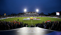 Cary, N.C. - Tuesday March 27, 2018: USMNT and Paraguay starting line up during an International friendly game between the men's national teams of the United States (USA) and Paraguay (PAR) at Sahlen's Stadium at WakeMed Soccer Park.