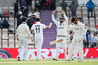 Mohammad Shami, India and team mates celebrate the wicket of Kyle Jamieson, New Zealand during India vs New Zealand, ICC World Test Championship Final Cricket at The Hampshire Bowl on 22nd June 2021