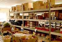 Marc Hayot/Herald Leader. The Manna Center's food pantry has served over 15,000 people according to Executive Director Mark Brooker.