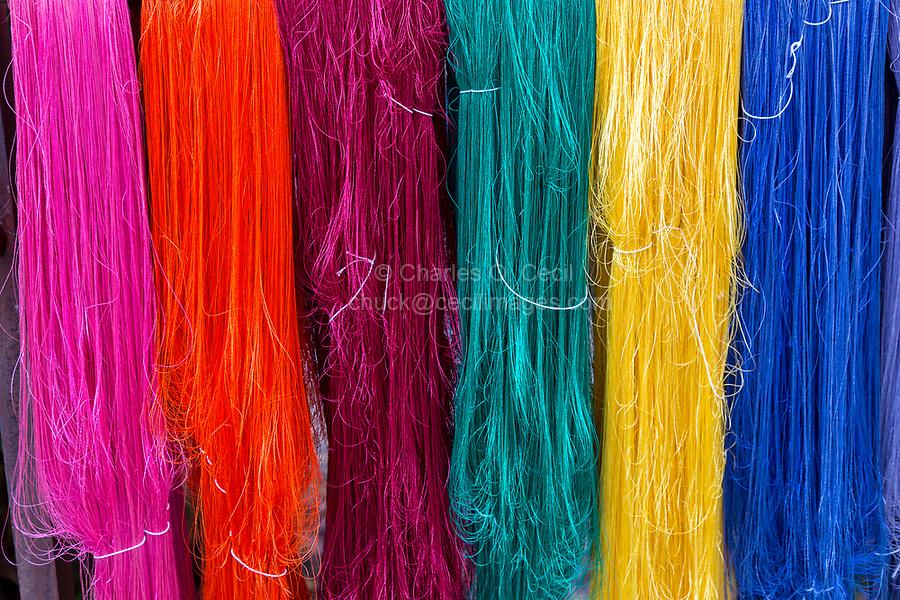 Bangkok, Thailand.  Thai Silk in Bright Colors.