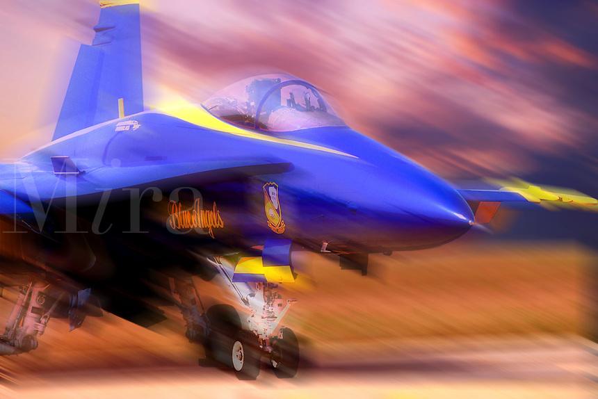 Aircraft. F/A-18 Hornet. Blue Angel