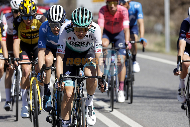 Lennard Kamna (GER) Bora-Hansgrohe during Stage 4 of the 100th edition of the Volta Ciclista a Catalunya 2021, running 166.5km from Ripoll to Port Aine, Spain. 25th March 2021.   <br /> Picture: Bora-Hansgrohe/Luis Angel Gomez/BettiniPhoto | Cyclefile<br /> <br /> All photos usage must carry mandatory copyright credit (© Cyclefile | Bora-Hansgrohe/Luis Angel Gomez/BettiniPhoto)