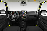 Stock photo of straight dashboard view of 2019 Suzuki Jimny GLX 5 Door SUV Dashboard
