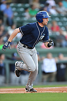 Left fielder Vince Fernandez (8) of the Asheville Tourists in a game against the Greenville Drive on Tuesday, May 2, 2017, at Fluor Field at the West End in Greenville, South Carolina. Asheville won, 7-1. (Tom Priddy/Four Seam Images)