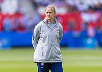 PARIS,  - JUNE 16: Dawn Scott watches the USWNT during a game between Chile and USWNT at Parc des Princes on June 16, 2019 in Paris, France.