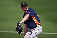 Houston Astros pitcher Tyler Ivey (63) warms up in the bullpen during a Major League Spring Training game against the St. Louis Cardinals on March 20, 2021 at Roger Dean Stadium in Jupiter, Florida.  (Mike Janes/Four Seam Images)
