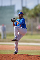 New York Mets Pitcher Scarlyn Reyes (16) during a minor league Spring Training game against the St. Louis Cardinals on March 28, 2017 at the Roger Dean Stadium Complex in Jupiter, Florida.  (Mike Janes/Four Seam Images)