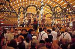 Deutschland, Bayern, Oberbayern, Muenchen: Oktoberfest - im Loewenbraeu Bierzelt   Germany, Bavaria, Upper Bavaria, Munich: October Festival - inside Lowenbrau Bierzelt