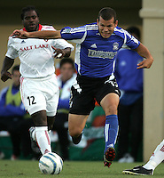 18 June 2005:  Alejandro Moreno of Earthquakes in action against Real Salt Lake at Spartan Stadium in San Jose, California.    Earthquakes defeated Real Salt Lake, 3-0.   Mandatory Credit: Michael Pimentel / ISI