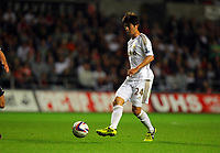 Pictured: Ki Sung Yueng of Swansea. Tuesday 28 August 2012<br /> Re: Capital One Cup game, Swansea City FC v Barnsley at the Liberty Stadium, south Wales.