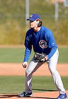 Jeff Samardzija - Chicago Cubs - 2009 spring training.Photo by:  Bill Mitchell/Four Seam Images