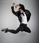 Dynion Professional Dance Company shoot at the Grand Theatre in Swansea.