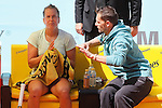 Barbora Strycova with her coach during Madrid Open Tennis 2015 match.May, 6, 2015.(ALTERPHOTOS/Acero)