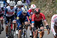 Dylan Teuns (BEL/Bahrain - Victorious) up the Hagaard<br /> <br /> 61st Brabantse Pijl 2021 (1.Pro)<br /> 1 day race from Leuven to Overijse (BEL/202km)<br /> <br /> ©kramon