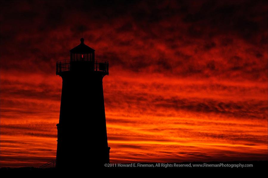 Edgartown Light before sunrise