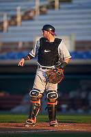 Mahoning Valley Scrappers catcher Logan Ice (47) during a game against the Auburn Doubledays on June 19, 2016 at Falcon Park in Auburn, New York.  Mahoning Valley defeated Auburn 14-3.  (Mike Janes/Four Seam Images)