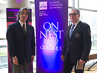 Montreal (QC) CANADA, November 10 2011 - Kent Nagano unveil the Montreal Symphonic Orchestra new album ; Beethoven 5th symphony.