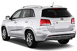 Rear three quarter view of a 2013 KIA Sorento SX