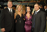 Chairs Jason and Pamela Michaels with Michelle and Humberto Quintero at the Astros Wives Gala at Minute Maid Park Thursday Aug. 06, 2009.(Dave Rossman/For the Chronicle)