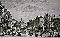 Boulevard St. Michel, 1869. Baron Haussman, Part of Haussman's renovation of Paris.