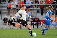 Boston Breakers goalkeeper Kristin Luckenbill (1). Sky Blue FC defeated the Boston Breakers 2-1 during a Women's Professional Soccer match at Yurcak Field in Piscataway, NJ, on May 31, 2009.