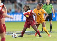 San Jose, CA - December 4, 2016: The NCAA Women's Soccer Championships Finals; The West Virginia Mountaineers vs the USC Trojans at Avaya Stadium. Final score, West Virginia 1, USC Trojans 3.