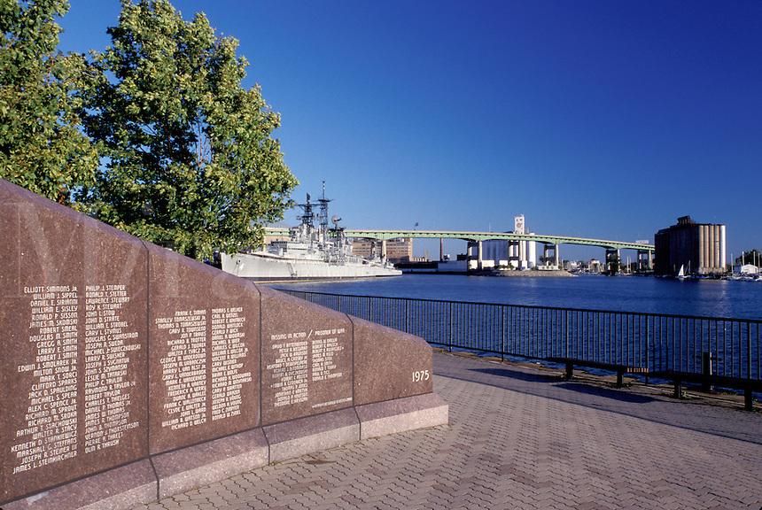 Buffalo, New York, NY, Buffalo River, Naval and Military Park, Western NY Vietnam Veterans Monument.