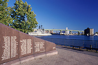 Buffalo, New York, NY, Buffalo River, Naval and Military Park, Western NY Vietnam Veterans Monument.