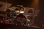 Rock band Pop Evil playing Pop's Nightclub and concert venue in St. Louis on July 21st, 2013.