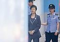 Park Geun-hye arrives at Seoul Central District Court