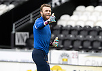 St Mirren v St Johnstone…29.08.21  SMiSA Stadium    SPFL<br />Thumbs up from Zander Clark during the warm-up<br />Picture by Graeme Hart.<br />Copyright Perthshire Picture Agency<br />Tel: 01738 623350  Mobile: 07990 594431
