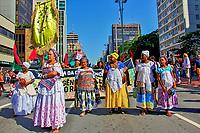 Manifestaçao Marcha da Consciencia Negra na Avenida Paulista. Sao Paulo. 2016. Foto de Lineu Kohatsu.