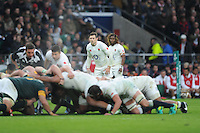 Elliot Daly and Marland Yarde of England look on during the Old Mutual Wealth Series match between England and South Africa at Twickenham Stadium on Saturday 12th November 2016 (Photo by Rob Munro)
