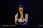 March 30, 2013, Penang, Malaysia - .Mamiko Watanabe, Japanese pianist performing with Dende & Band, Afro-Brazilian Funk & Groove, in Penang World Music Festival 2013 at the Penang Botanic Gardens, Quarry Park. (Photo by Robertus Pudyanto/AFLO)