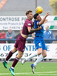 Montrose v St Johnstone…21.07.18…  Links Park    League Cup<br />Jason Kerr battles with Martin Rennie<br />Picture by Graeme Hart. <br />Copyright Perthshire Picture Agency<br />Tel: 01738 623350  Mobile: 07990 594431