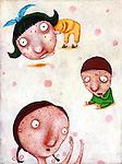 Illustration of children suffering from chicken pox