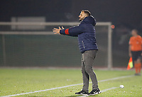 Head Coach Tiziano Rutilo of Woluwe pictured during a female soccer game between FC Femina White Star Woluwe and Eendracht Aalst on the sixth matchday in the 2021 - 2022 season of Belgian Scooore Womens Super League , friday 8 th of october 2021  in Woluwe , Belgium . PHOTO SPORTPIX | KRISTOF DE MOOR