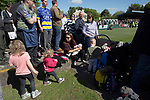 Spectators young and old crowd into the ground during the first-half as Warrington Town played King's Lynn Town in the Northern Premier League premier division super play-off final tie at Cantilever Park, Warrington. The one-off match was between the winners of play-off matches in the Northern Premier League and the Southern League Premier Division Central to determine who would be promoted to the National League North. The visitors from Norfolk won 3-2 after extra-time, watched by a near-capacity crowd of 2,200.