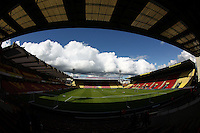 A general view of Watford Fc  during the Barclays Premier League match Watford and Swansea   played at Vicarage Road Stadium , Watford