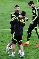 Spanish National Team's  training at Ciudad del Futbol stadium in Las Rozas, Madrid, Spain. In the pic Raul Albiol. March 25, 2015. (ALTERPHOTOS/Luis Fernandez) /NORTEphoto.com