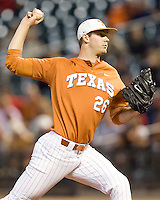 NCAA Baseball featuring the Texas Longhorns against the Missouri Tigers. Jungmann, Taylor 3495  at the 2010 Astros College Classic in Houston's Minute Maid Park on Sunday, March 7th, 2010. Photo by Andrew Woolley