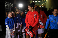 COLUMBUS, OH - NOVEMBER 07: Carli Loyd #10 of the United States chats with a ball kid during a game between Sweden and USWNT at MAPFRE Stadium on November 07, 2019 in Columbus, Ohio.