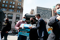 BROOKLYN, NY- MAY 2: New York City Mayoral Candidate Eric Adams receives National Action Muslim Network Endorsement at Cadman Plaza Park in Brooklyn, New York City on May 2, 2021. Credit: mpi43/MediaPunch