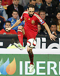 Spain's Juanfran Torres during 15th UEFA European Championship Qualifying Round match. November 15,2014.(ALTERPHOTOS/Acero)