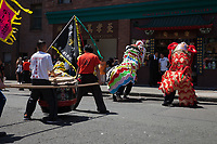 Lion Dance & Taiko Drummers, Dragon Fest 2015, Chinatown, Seattle, Washington, USA