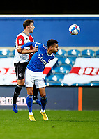 31st October 2020; The Kiyan Prince Foundation Stadium, London, England; English Football League Championship Football, Queen Park Rangers versus Cardiff City; Bacuna of Cardiff wins the header