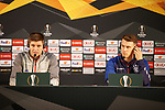 23.10.2019 Rangers press conference , Porto: Steven Gerrard and Ryan Jack
